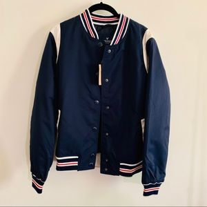 American eagle outfitters bomber jersey jacket